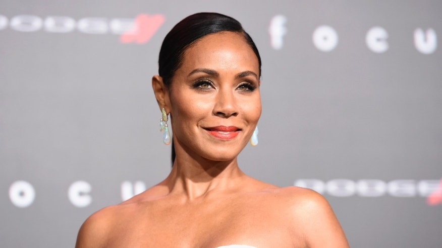 "Feb. 24, 2015. Jada Pinkett Smith arrives at the world premiere of ""Focus"" at the TCL Chinese Theatre in Los Angeles."