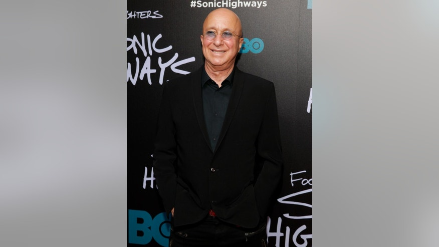 "FILE - In this Oct. 14, 2014 file photo, bandleader Paul Shaffer attends the premiere of HBO's ""Foo Fighters Sonic Highway"" in New York. Shaffer, 65, has been the gravel-voiced sidekick of David Letterman since 1982. Letterman is retiring on May 20. (Photo by Andy Kropa/Invision/AP, File)"