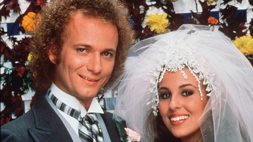 "Nov. 16, 1981. Anthony Geary portrays Luke Spencer, left, and Genie Francis portrays Laura Spencer on ""General Hospital."""