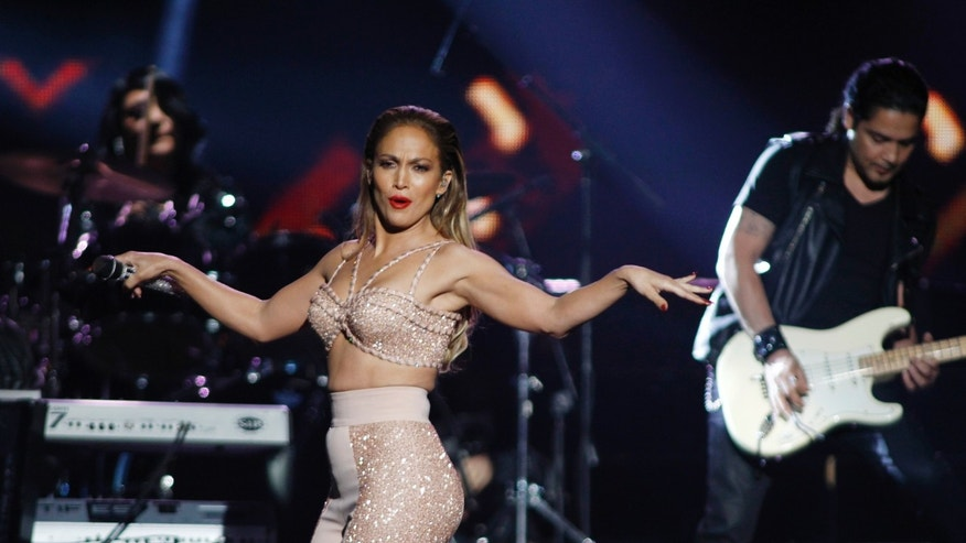 April 30, 2015. Singer Jennifer Lopez performs at the 2015 Latin Billboard Awards in Coral Gables, Florida.