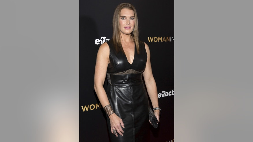 "March 30, 2015. Actress Brooke Shields attends the ""Woman in Gold"" premiere in New York."