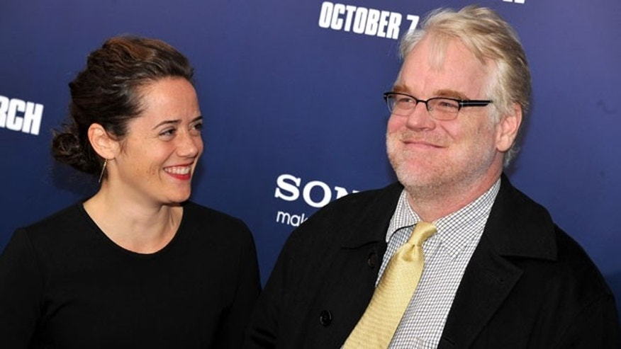 Mimi O'Donnell and partner Philip Seymour Hoffman.