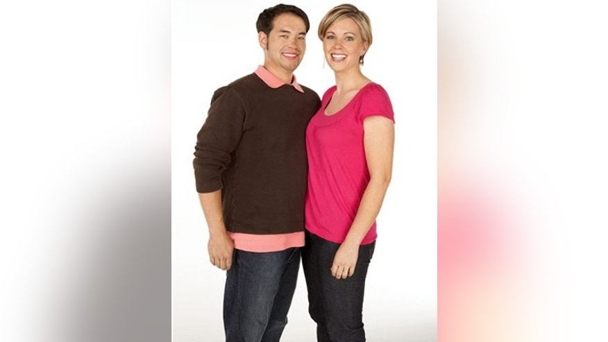 "Jon Gosselin, left, and his wife Kate Gosselin, from the TLC series, ""Jon & Kate Plus 8."""
