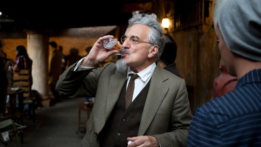 "British actor Henry Goodman plays Trotsky in  the film ""The Chosen."""