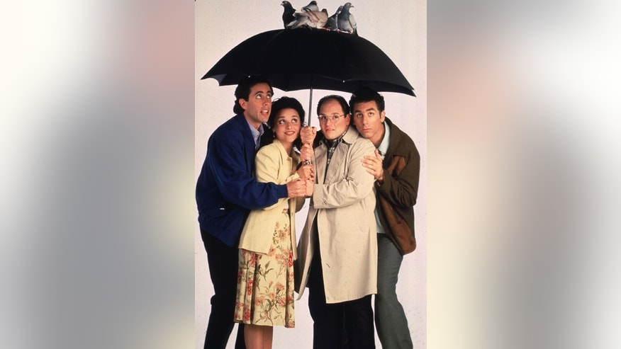 "The stars of the television series ""Seinfeld"" are shown in this undated publicity photograph. Shown (L-R): Jerry Seinfeld, Julia Louis Dreyfuss, Jason Alexander and Michael Richards. ""Seinfeld"" will end its successful run on the NBC network in a series finale May 14.FSP/SV - RTRDU81"