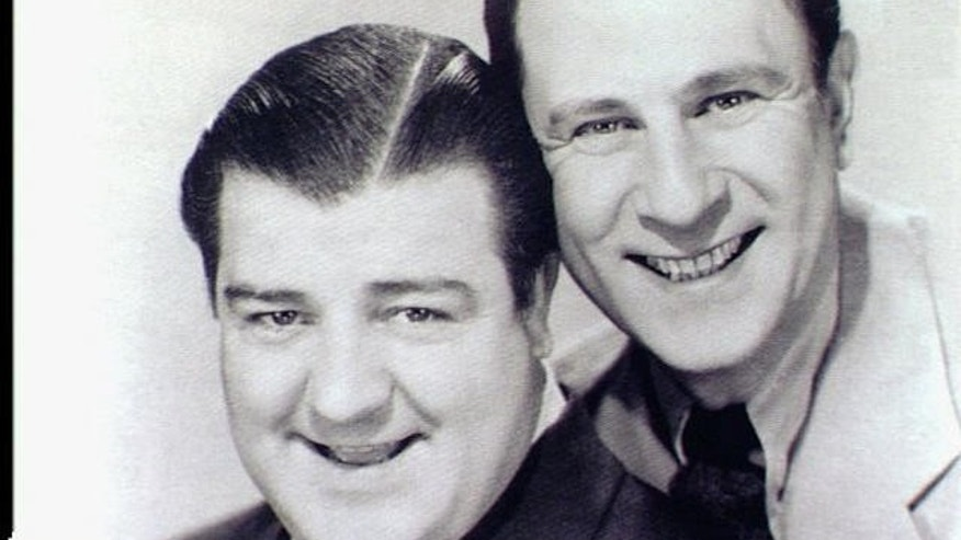 Comedy duo Abbott and Costello in an undated photo.