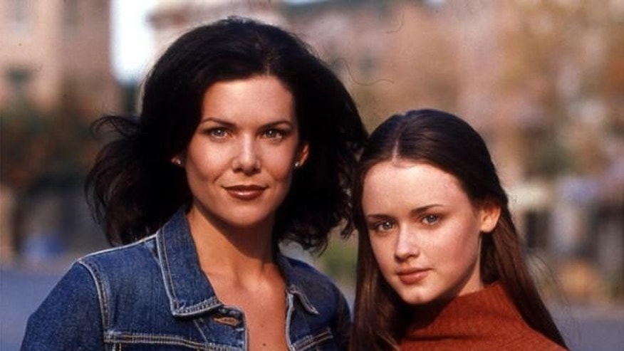 "Lauren Graham and Alexis Bledel in a ""Gilmore Girls"" promotional photo."