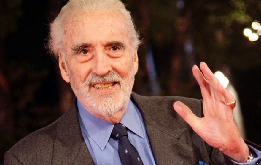 Actor Christopher Lee poses on the red carpet during the Rome film festival October 15, 2009.  REUTERS/Tony Gentile  (ITALY ENTERTAINMENT) - RTXPOEH