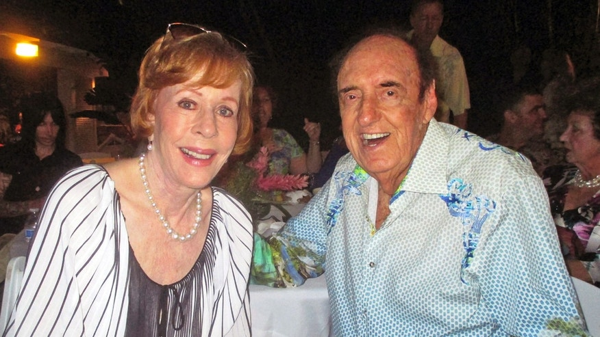 June 12, 2015. Jim Nabors and his friend and longtime collaborator in comedy Carol Burnett celebrate Nabors' 85th birthday with nearly 300 people at his home in Honolulu.