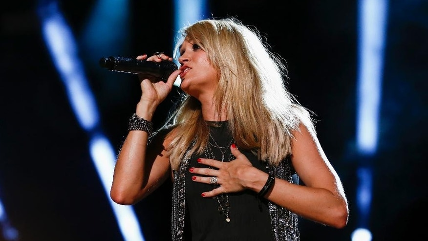 June 13, 2015. Carrie Underwood performs at LP Field at the CMA Music Festival in Nashville, Tenn.