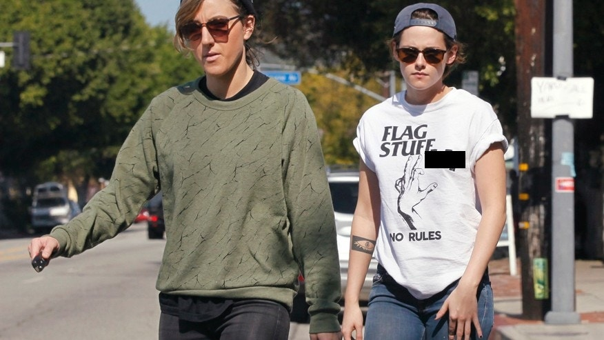 Kristen Stewart dons a shirt that says no rules while running errands in Los Feliz, Calif. with Alicia Cargile.