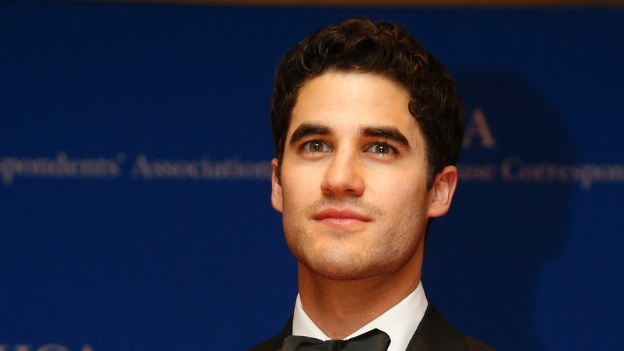 May 3, 2014. Actor Darren Criss arrives on the red carpet at the annual White House Correspondents Association Dinner in Washington.