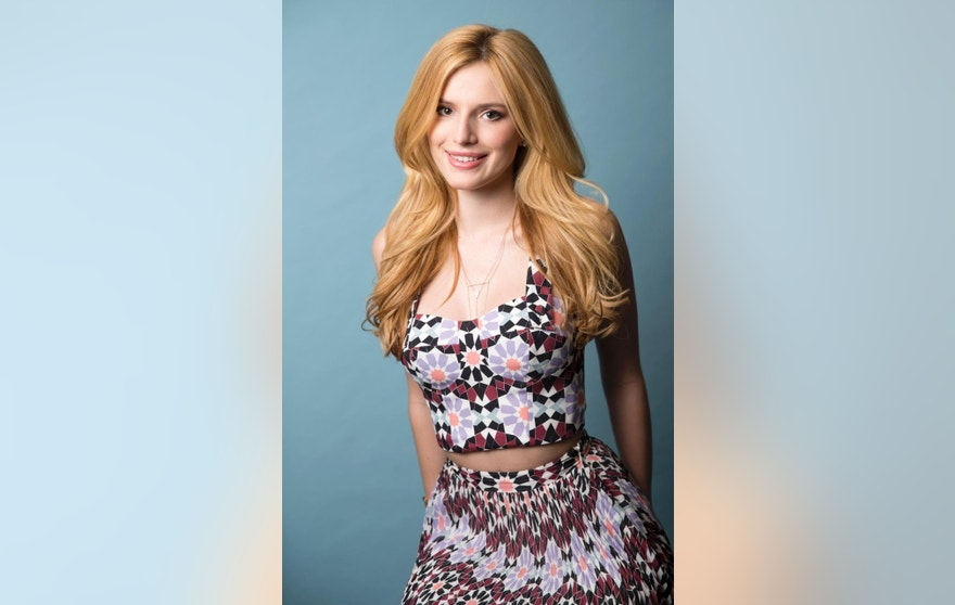 """Bella Thorne, who appears in MTV's """"Scream"""" adaptation for television, poses for a portrait in New York."""