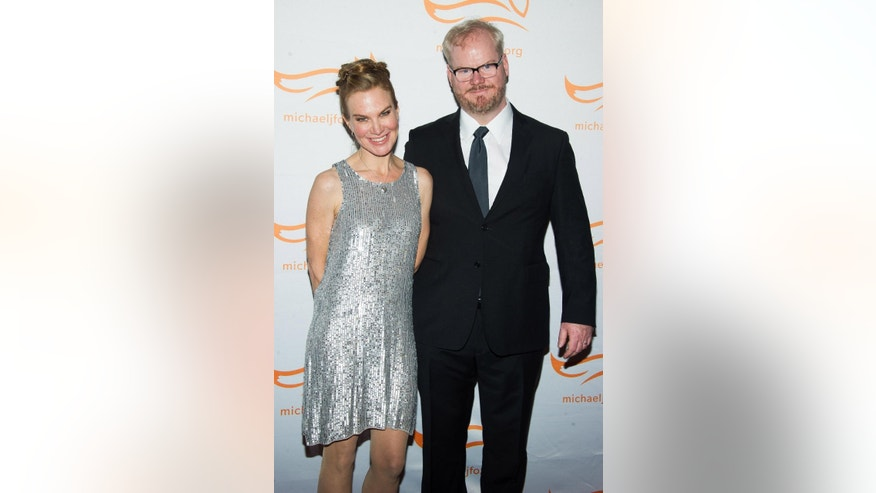 "FILE - In this Nov. 22, 2014 file photo, Jeannie Noth, left, and Jim Gaffigan attend The Michael J. Fox Foundation for Parkinson's Research benefit, ""A Funny Thing Happened on the Way to Cure Parkinson's,"" in New York. Gaffigan stars in the new comedy series, ""The Jim Gaffigan Show,"" premiering Wednesday, July 15, at 10 p.m. EDT on TV Land. (Photo by Charles Sykes/Invision/AP, File)"