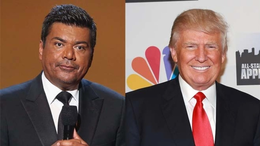 George Lopez (left) and Donald Trump. (Photos: Getty Images)