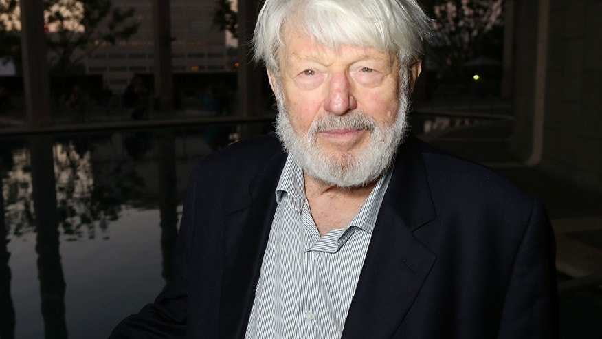 "In this Sept. 7, 2012 file photo, actor Theodore Bikel poses at the opening night performance of ""November"" at the Center Theatre Group/Mark Taper Forum in Los Angeles."