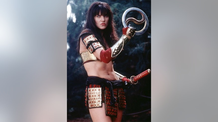 "Lucy Lawless as Xena in scene from final episode of the TV series ""Xena, Warrior Princess."""