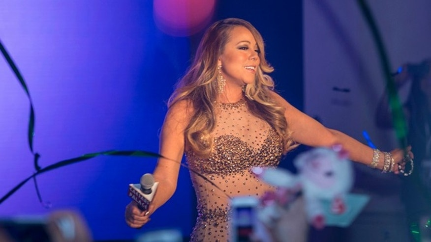 Mariah Carey is seen at her Official Welcome to Caesars Palace on Monday, April 27, 2015, in Las Vegas, NV. (Photo by Andrew Estey/Invision/AP)