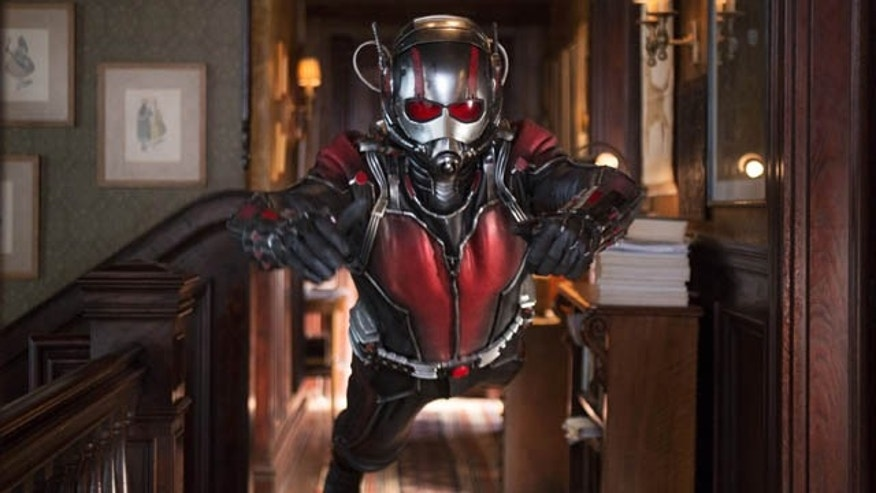 This photo provided by Disney shows Paul Rudd as Scott Lang/Ant-Man in a scene from Marvel's 'Ant-Man.' (Zade Rosenthal/Disney/Marvel via AP)