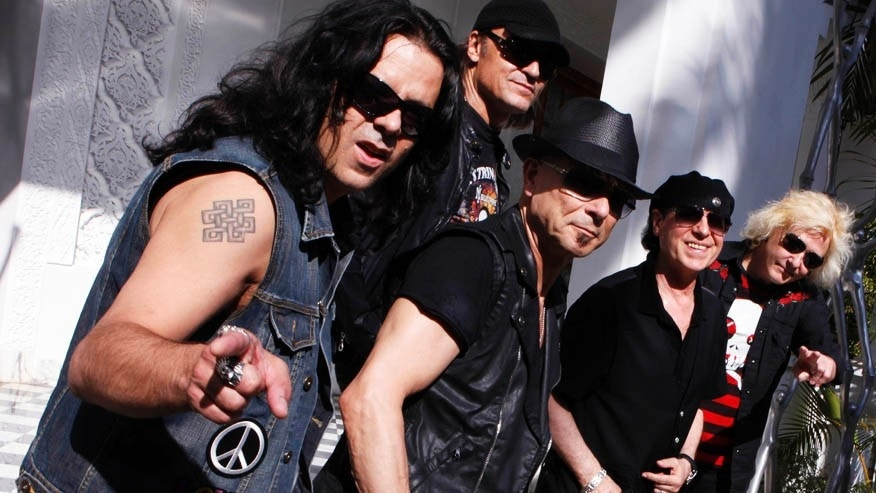 German rock band Scorpions pose for a photocall for the 11th Mawazine World Rhythms international music festival in Rabat May 23, 2012. REUTERS/Youssef Boudlal (MOROCCO - Tags: ENTERTAINMENT) - RTR32IWB