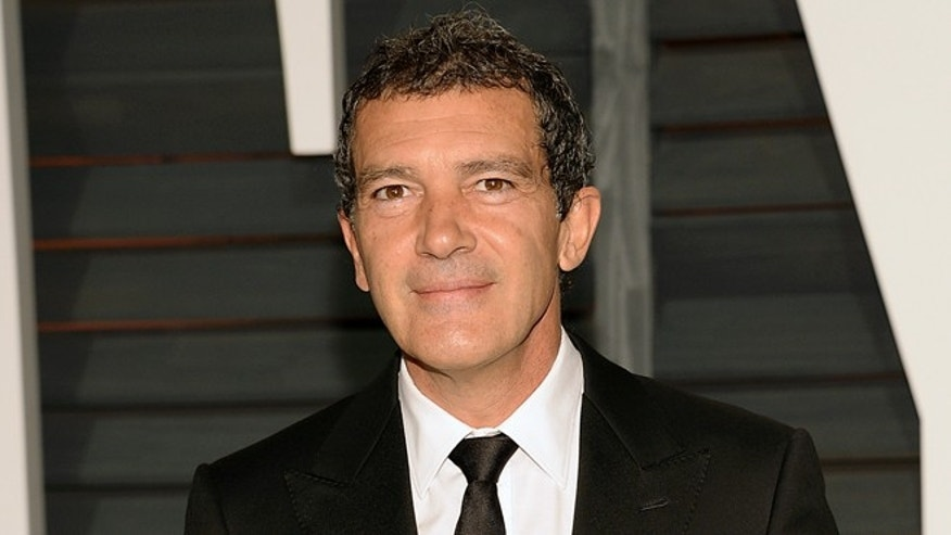 FILE - In this Feb. 22, 2015 file photo, Antonio Banderas arrives at the 2015 Vanity Fair Oscar Party in Beverly Hills, Calif. Banderas will star in a series on Starz called Cuban Quartet. The announcement was made Friday in Beverly Hills, California by Starz CEO Chris Albrecht at a panel for television critics. (Photo by Evan Agostini/Invision/AP, File)