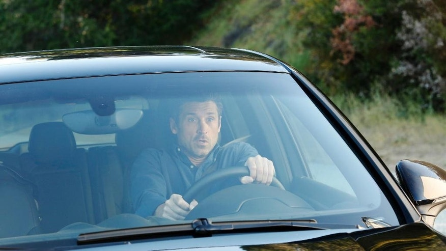 "In this image released by ABC, Patrick Dempsey appears in a scene from ""Grey's Anatomy,"" which aired April 23. ABC President Paul Lee was asked Tuesday, Aug. 4, about the decision to kill off Dempsey's character, Derek ""McDreamy"" Shepherd,  from the show. The question was asked at a bi-annual press conference for TV critics. Lee went on to say that ""It was a difficult decision. Patrick obviously has lots of interests outside. He's very big in motosport. Shonda (Rhimes) decided that was the way to go.""  (Kelsey McNeal/ABC via AP)"