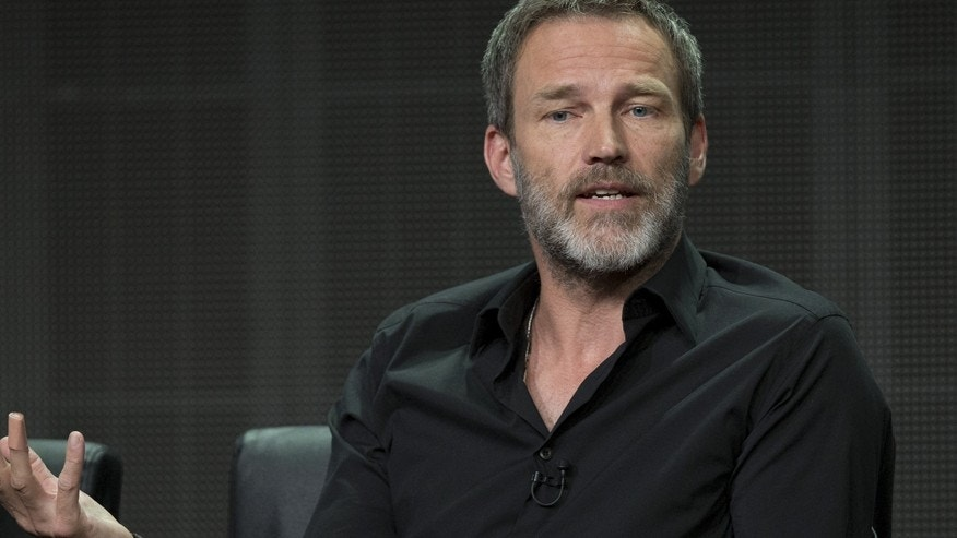 "Cast member Stephen Moyer speaks at a panel for the FX Networks television series ""The Bastard Executioner"" during the Television Critics Association Cable Summer Press Tour in Beverly Hills, California August 7, 2015."
