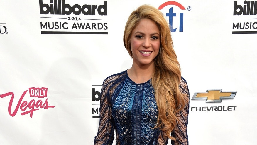 Shakira in a 2014 file photo in Las Vegas, Nevada.