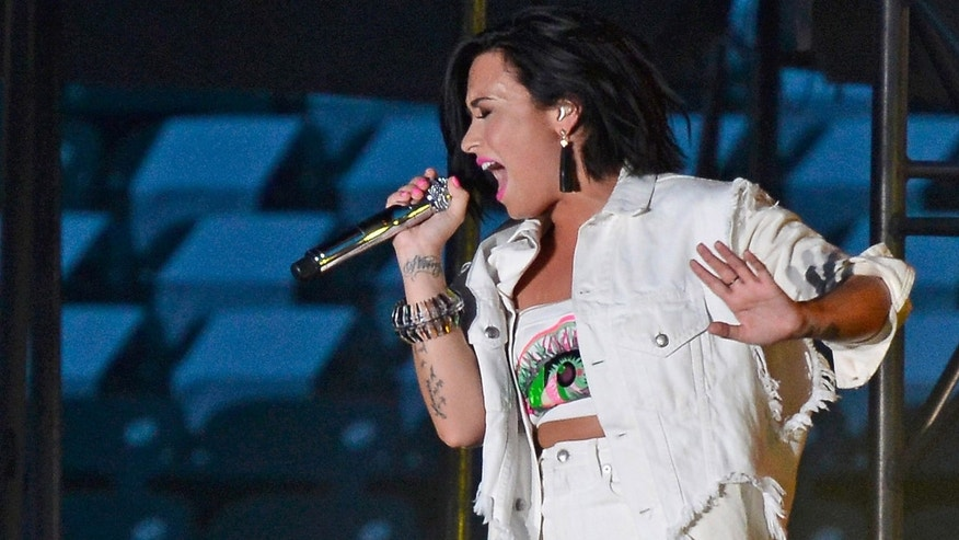 Demi Lovato during the MLB All-Star Concert at Paul Brown Stadium on July 11, 2015 in Cincinnati, Ohio.