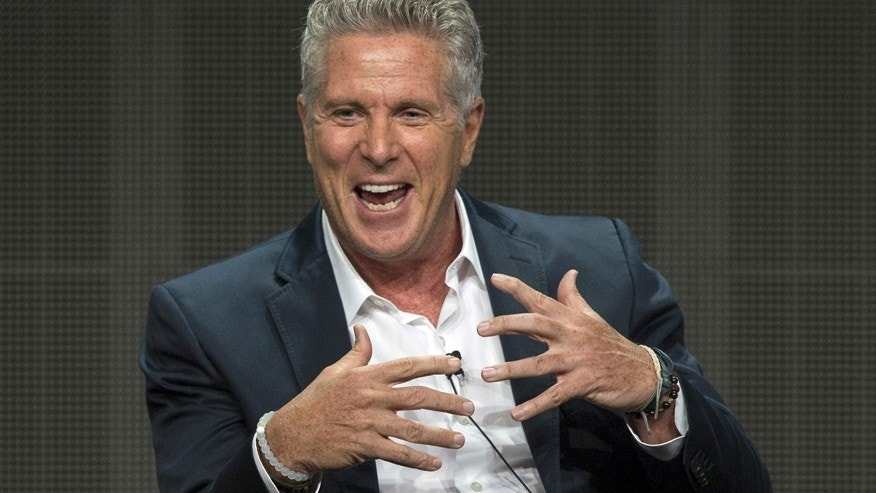 "Cast member Donny Deutsch speaks at a panel for the NBCUniversal (USA) television series ""Donny!"" during the Television Critics Association Cable Summer Press Tour in Beverly Hills, California August 12, 2015."