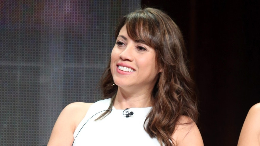 BEVERLY HILLS, CA - JULY 31:  Actress Elizabeth Rodriguez speaks onstage during the 'Fear the Walking Dead' panel discussion at the AMC/IFC Networks portion of the 2015 Summer TCA Tour at The Beverly Hilton Hotel on July 31, 2015 in Beverly Hills, California.  (Photo by Frederick M. Brown/Getty Images)