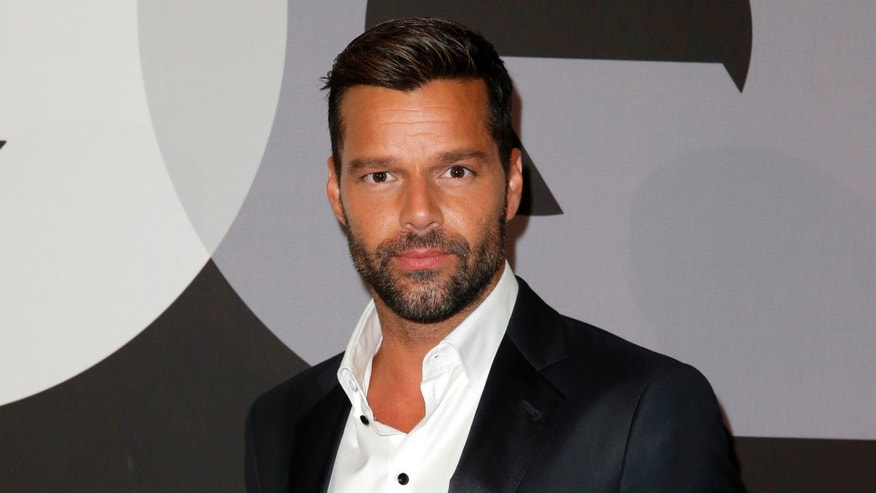 Ricky Martin attends GQ and Giorgio Armani Grammys After Party on February 8, 2015 in Hollywood, California.