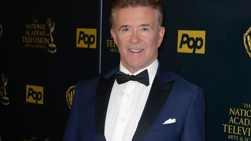 Actor Alan Thicke poses backstage at the 42nd Annual Daytime Emmy Awards in Burbank, California April 26, 2015.