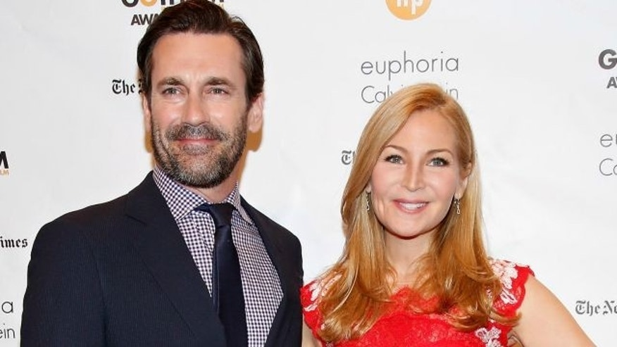 NEW YORK, NY - DECEMBER 01:  Actors Jon Hamm (L) and Jennifer Westfeldt attend the 24th Annual Gotham Independent Film Awards at Cipriani Wall Street on December 1, 2014 in New York City.  (Photo by Cindy Ord/Getty Images)