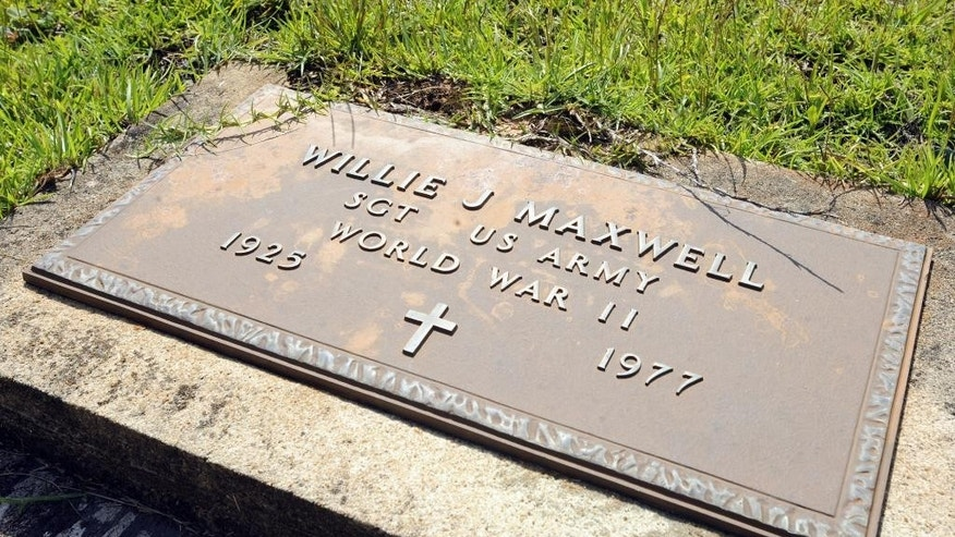 The grave of Willie Maxwell, who was shot and killed during a funeral before about 300 witnesses in 1977.