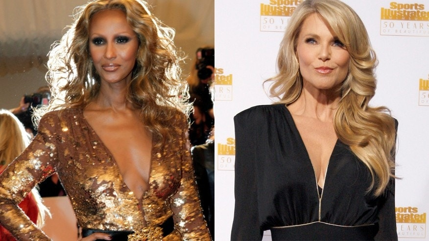 Iman, left, credits Christie Brinkley with helping her get pregnant. (Reuters)