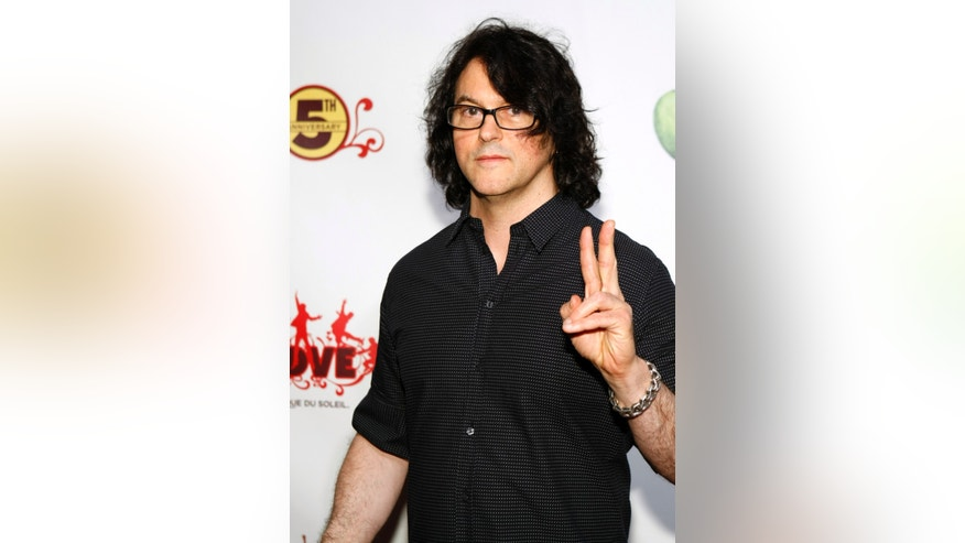 """November 8, 2011. Chef Kerry Simon arrives for the fifth anniversary celebration of """"The Beatles LOVE by Cirque du Soleil"""" show at the Mirage Hotel and Casino in Las Vegas, Nevada."""