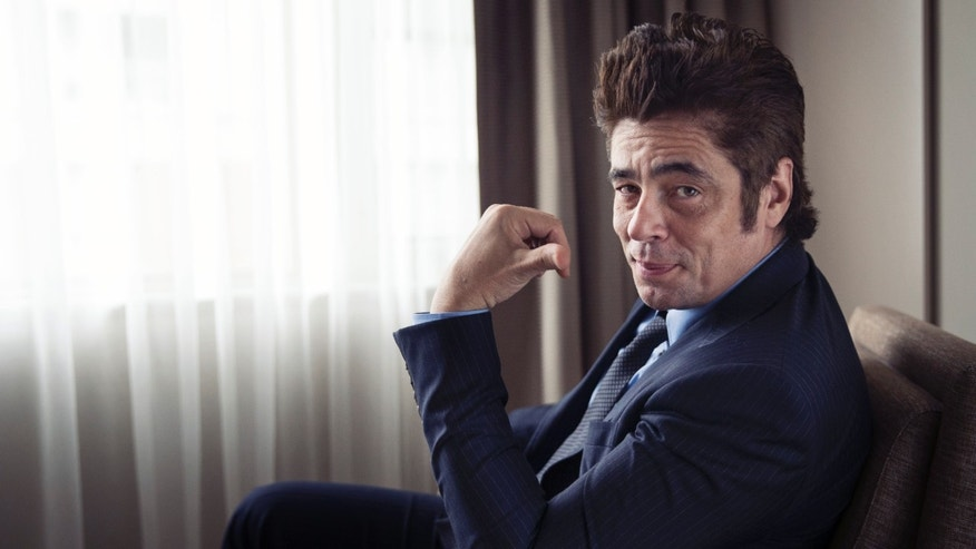 "Benicio Del Toro poses for a portrait in promotion of his upcoming role in ""Sicario"" at the 2015 Toronto International Film Festival on Friday, Sept. 11, 2015 in Toronto. (Photo by Victoria Will/Invision/AP)"