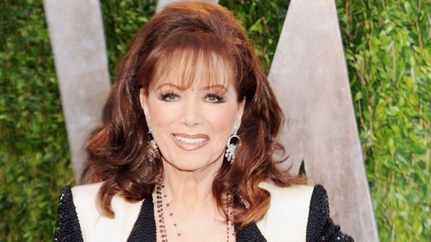 Novelist Jackie Collins is pictured.