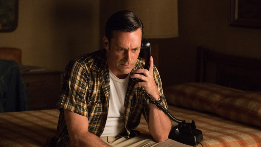 "Jon Hamm portrays Don Draper in a scene from ""Mad Men."""