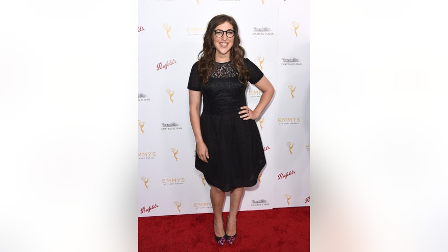 August 24, 2015.Mayim Bialik arrives at the Television Academy's 67th Emmy Performance Peer Group Celebration at the Montage Beverly Hills.