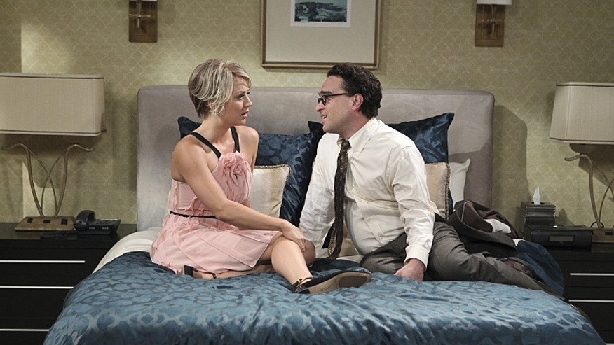 """The Matrimonial Momentum"" -- After driving to Vegas to get married, Penny (Kaley Cuoco-Sweeting, left) struggles with Leonard\'s (Johnny Galecki, right) confession that he kissed another girl, on the ninth season premiere of THE BIG BANG THEORY, Monday, Sept. 21 (8:00-8:31 PM, ET/PT), on the CBS Television Network. Photo: Sonja Flemming/CBS ©2015 CBS Broadcasting, Inc. All Rights Reserved"