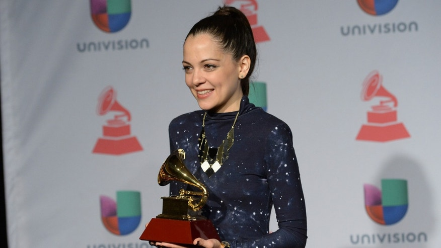 LAS VEGAS, NV - NOVEMBER 21:  Singer-songwriter Natalia Lafourcade poses in the press room at the 14th Annual Latin GRAMMY Awards held at the Mandalay Bay Events Center on November 21, 2013 in Las Vegas, Nevada.  (Photo by Jason Merritt/Getty Images)