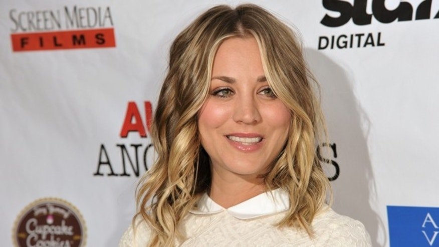"Kaley Cuoco arrives at the LA Premiere of ""Authors Anonymous"" on Wednesday, April 9, 2014, in Los Angeles. (Photo by Richard Shotwell/Invision/AP) ORG XMIT: CAPS101"