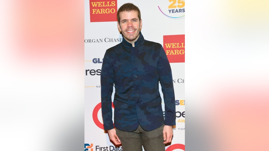 Perez Hilton attends the 2015 GLSEN Respect Awards in New York, on June 1, 2015.