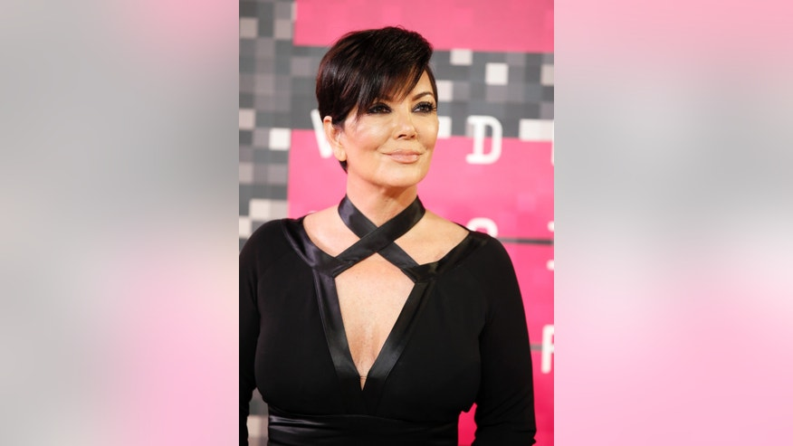 August 30, 2015. TV personality Kris Jenner arrives at the 2015 MTV Video Music Awards in Los Angeles, California.