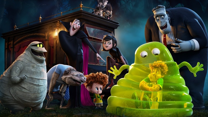 "This image released by Sony Pictures Animation shows a scene from in Columbia Pictures and Sony Pictures Animation's ""Hotel Transylvania 2."" (Sony Pictures Animation via AP)"
