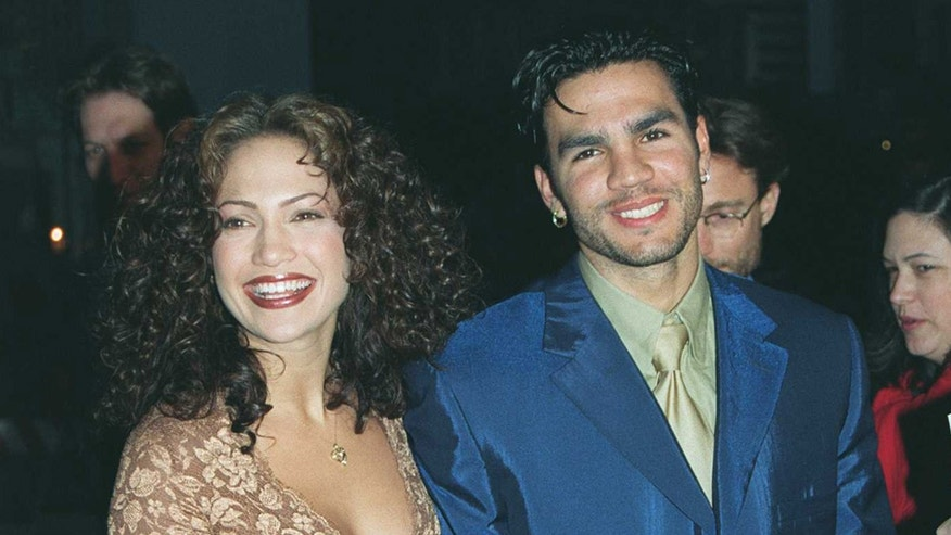 "4/7/97 Los Angeles, CA Jennifer Lopez and husband Ojani Noa at the premiere of the new movie ""Anaconda"""