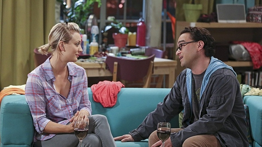 """""""The Separation Oscillation"""" -- Leonard (Johnny Galecki, right) confronts the woman he kissed on the North Sea in an attempt to set Penny\'s (Kaley Cuoco-Sweeting, left) mind at ease, on THE BIG BANG THEORY, Monday, Sept. 28 (8:00-8:31 PM, ET/PT), on the CBS Television Network.  Photo: Michael Yarish/Warner Bros. Entertainment Inc. © 2015 WBEI. All rights reserved."""