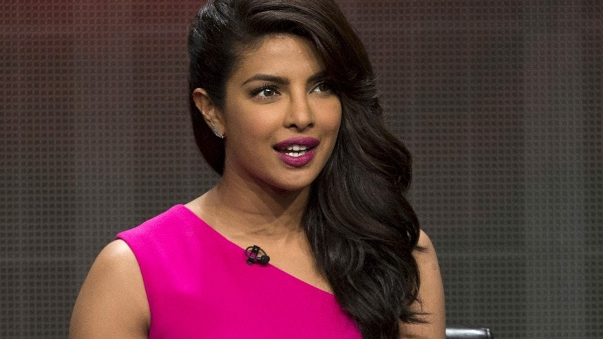 "Cast member Priyanka Chopra speaks at a panel for the Disney-ABC television series ""Quantico"" during the Television Critics Association Cable Summer Press Tour in Beverly Hills, California August 4, 2015. REUTERS/Mario Anzuoni - RTX1N1Z1"